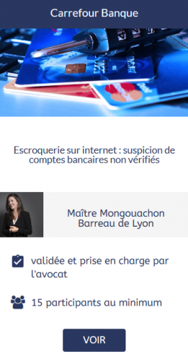 Action collective Carrefour Banque